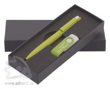 Набор: ручка «Jupiter» + флеш-карта, светло-зеленый