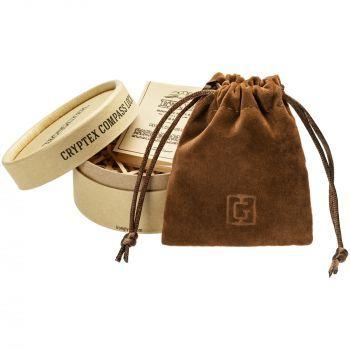 Флешка «Криптекс»® Compass Lock, тубус и чехол