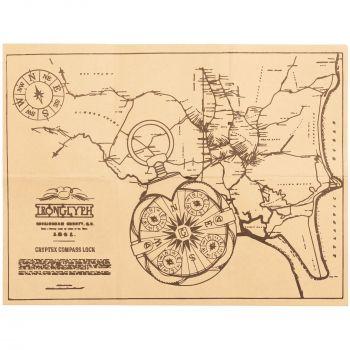 Флешка «Криптекс»® Compass Lock, инструкция с другой стороны