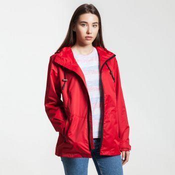 Ветровка «Medvind», женская, красная, на моделе