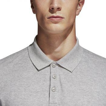 Рубашка поло «Essentials Base», меланж, пуговицы