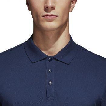 Рубашка поло «Essentials Base», синяя, пуговицы