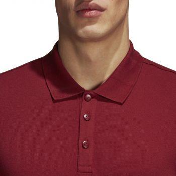 Рубашка поло «Essentials Base», красная, пуговицы