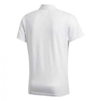 Рубашка поло «Essentials Base», белая, вид сзади