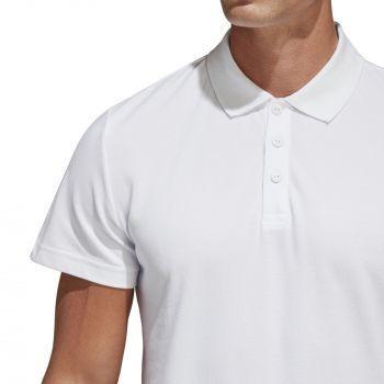 Рубашка поло «Essentials Base», белая, пуговицы