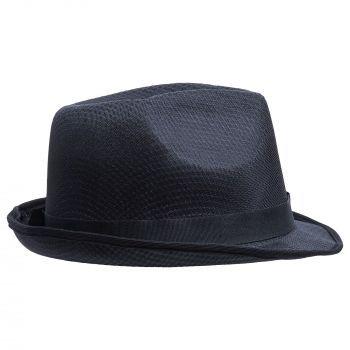 Шляпа «Gentleman» с черной лентой, с другой стороны
