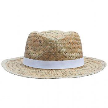 Шляпа «Daydream», бежевая с черной лентой, вид спереди
