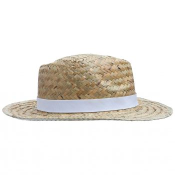 Шляпа «Daydream», бежевая с черной лентой, вид сбоку
