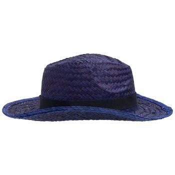 Шляпа «Daydream», синяя с черной лентой, вид сбоку