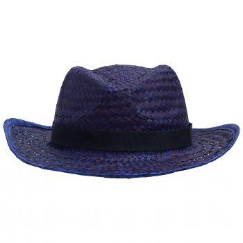 Шляпа «Daydream», синяя с черной лентой, вид спереди