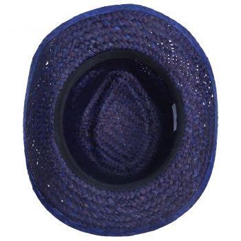 Шляпа «Daydream», синяя с черной лентой, вид снизу