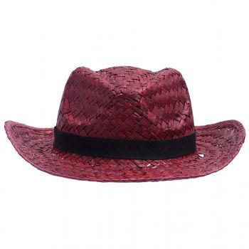 Шляпа «Daydream», красная с черной лентой, вид спереди