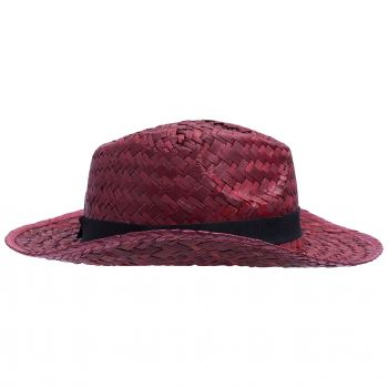 Шляпа «Daydream», красная с черной лентой, вид сбоку