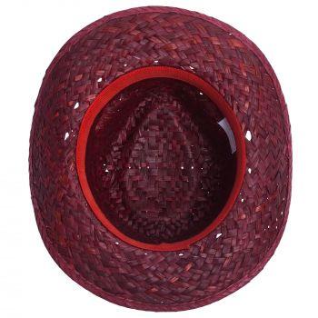 Шляпа «Daydream», красная с черной лентой, вид снизу