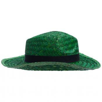 Шляпа «Daydream», зелёная с черной лентой, вид сбоку