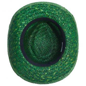 Шляпа «Daydream», зелёная с черной лентой, вид снизу