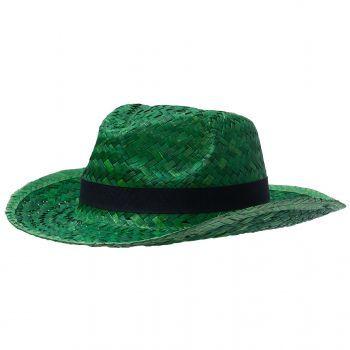 Шляпа «Daydream», зелёная с черной лентой