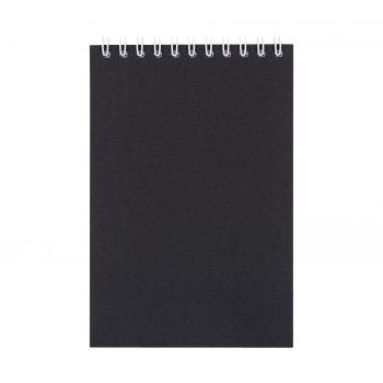 Блокнот «Nettuno Mini», А6, черный, вид спереди