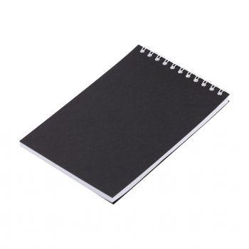 Блокнот «Nettuno Mini», А6, черный, вид сбоку