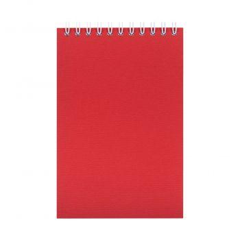 Блокнот «Nettuno Mini», А6, красный, вид спереди