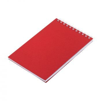Блокнот «Nettuno Mini», А6, красный, вид сбоку