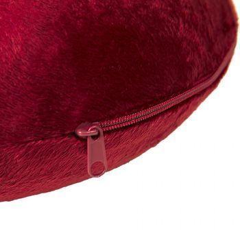 Подушка дорожная «SOFT», memory foam, красная, молния