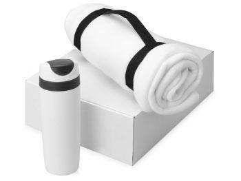 Подарочный набор «Cozy» с пледом и термокружкой, белый