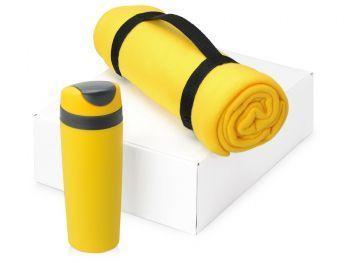 Подарочный набор «Cozy» с пледом и термокружкой, желтый