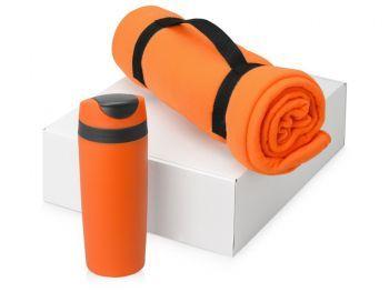Подарочный набор «Cozy» с пледом и термокружкой, оранжевый