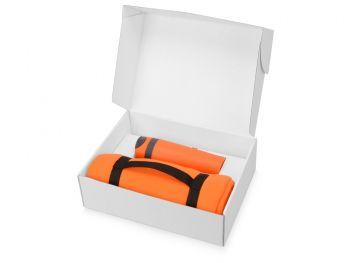 Подарочный набор «Cozy» с пледом и термокружкой, оранжевый, в коробке