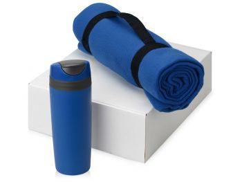Подарочный набор «Cozy» с пледом и термокружкой, синий