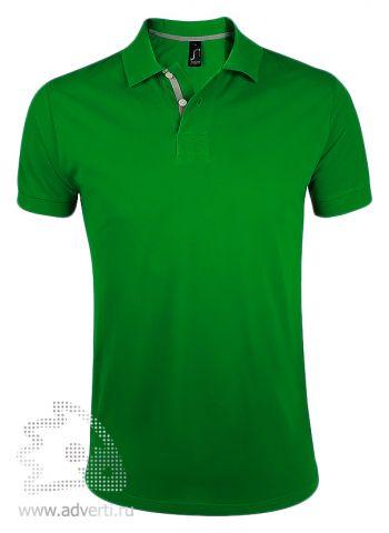 Поло «Portland Men», зеленая