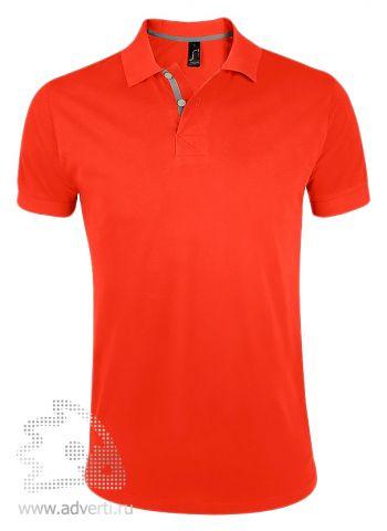 Поло «Portland Men», оранжевая