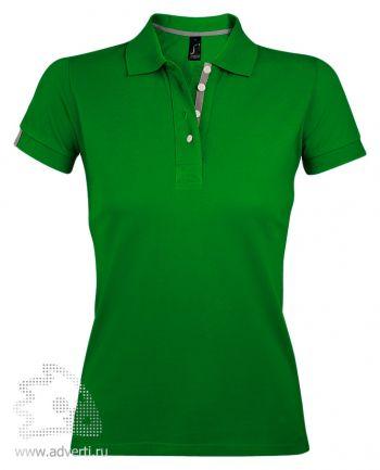 Поло «Portland Women», женская, зеленая