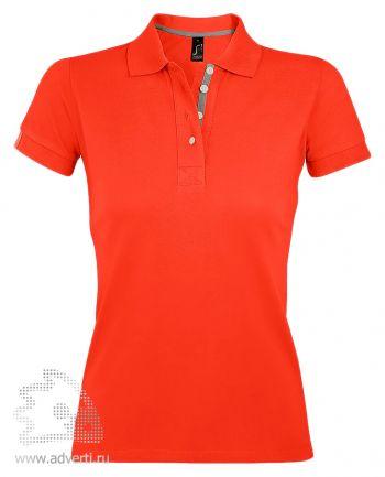 Поло «Portland Women», женская, оранжевая