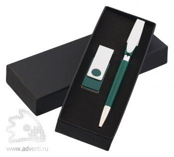 Набор ручка «Rodeo» + флеш-карта «Twista» Klio Eterna, темно-зеленый