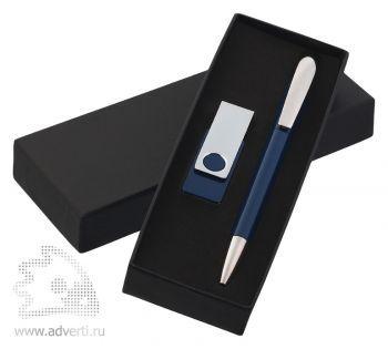 Набор ручка «Arca»  + флеш-карта «Twista» 8Гб Klio Eterna, темно-синий
