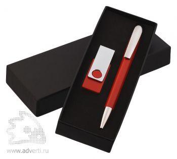 Набор ручка «Arca»  + флеш-карта «Twista» 8Гб Klio Eterna, красный