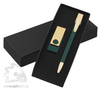 Набор ручка «Cobra» + флеш-карта «Twista» Klio Eterna, темно-зеленый
