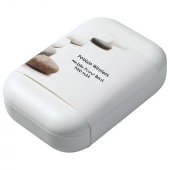 Аккумулятор с беспроводной зарядкой «Pebble Wireless» 9000 mAh, упаковка