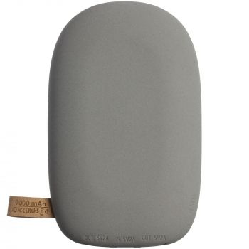 Аккумулятор с беспроводной зарядкой «Pebble Wireless» 9000 mAh, серый, вид снизу