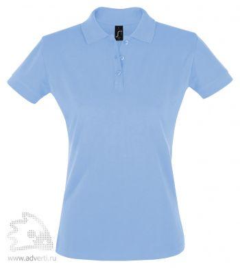 Рубашка поло «Perfect women 180», женская, голубая