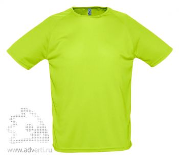 Футболка «Sporty», мужская, светло-зеленая