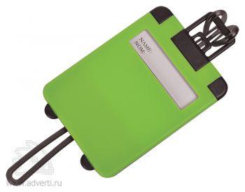 Бирка багажная «Чемодан», зеленая