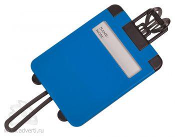 Бирка багажная «Чемодан», синяя