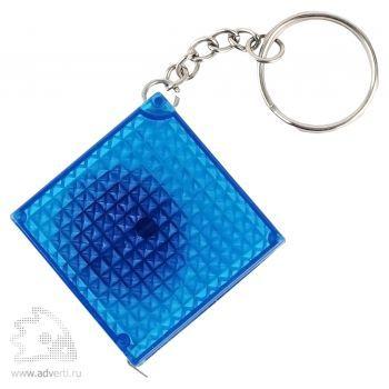 Брелок-рулетка «Фарго» из светоотражающего материала, синий