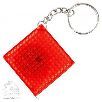 Брелок-рулетка «Фарго» из светоотражающего материала, красный