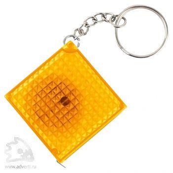 Брелок-рулетка «Фарго» из светоотражающего материала, желтый