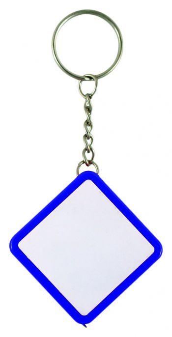 Брелок-рулетка «Ромб», синий