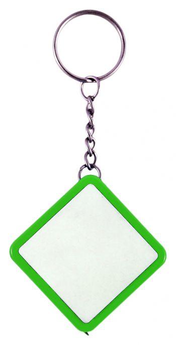 Брелок-рулетка «Ромб», зеленый